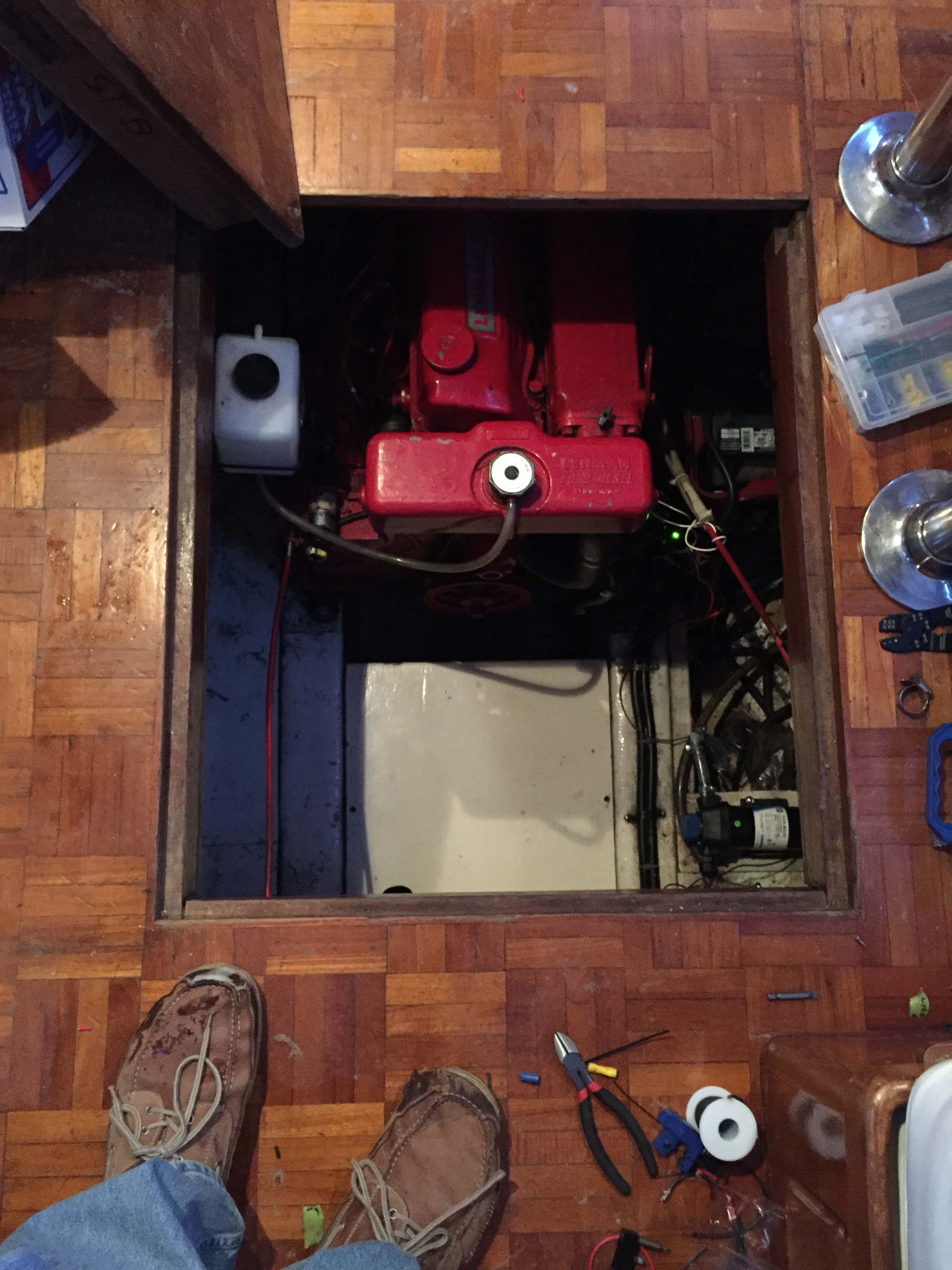 Trawler Engine Room: Engine Room Lighting